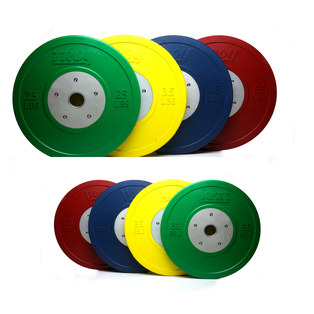 Competition Colored Bumper Weight Plates (Commercial Gym Quality) by Troy Barbell