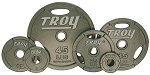 455 lb. Olympic Weight Plate Set, Iron Machined Grip (Commercial Gym Quality) by Troy Barbell