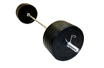 Black Rubber Bumper Plate Weight Set w/ Barbell and Rack (Home Gym Use) by USA Sports