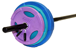 Aerobic Body Pump Barbell Set w/ Color Weights (Commercial Gym Quality) by Troy Barbell