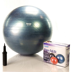 75 cm Burst Resistant Ab Exercise Ball Kit - Blue (Home Gym Use) by AeroMat
