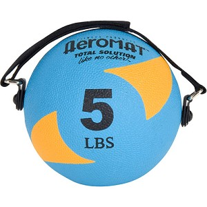 Power Yoga 5 lb. Pilates Weight Ball (Orange) (Professional Gym Quality) by AeroMat