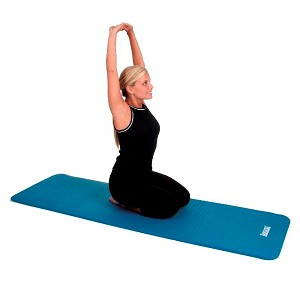 "Blue Dual Surface Stretching Mat (49""X23""X 3/4"") Extra Thick (Professional Gym Quality) by AeroMat"