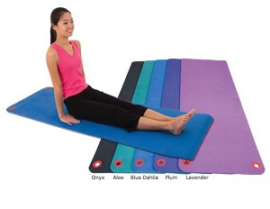 "Workout & Exercise Mat, Hangable (3/8"" X 20"" X48"") Lavender (Professional Gym Quality) by EcoWise"