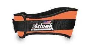 Schiek Gym Weight Lifting Belt - Nylon, 4 3/4 in. Back Width - Orange Large