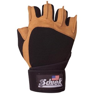 Schiek Men's Power Lifting Workout Gloves w/ Wristwrap - XLarge