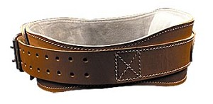 "Schiek Leather Lifting Workout Belt - 4 3/4"" Back Width Original Leather Belt - Small"