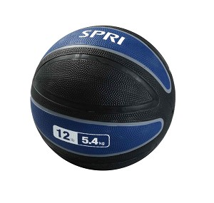 Xerball 12 lb. Rubber Medicine Ball Weight (Professional Gym Quality) by SPRI