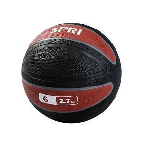 Xerball 6 lb. Rubber Medicine Ball Weight (Professional Gym Quality) by SPRI