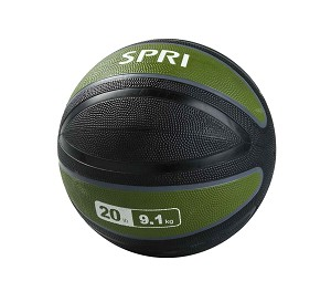 Xerball 20 lb. Rubber Medicine Ball Weight (Professional Gym Quality) by SPRI