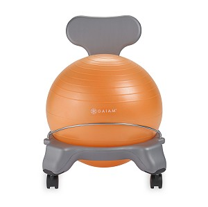 Kids Balance Ball Chair - Grey/Orange by Gaiam