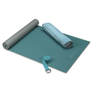 Hot Yoga Kit Teal by Gaiam