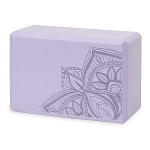Printed Yoga Block Lilac Point by Gaiam
