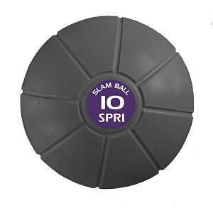 10 lb. Exercise Slam Ball w/ Sand for CrossFit (Professional Gym Quality) by SPRI