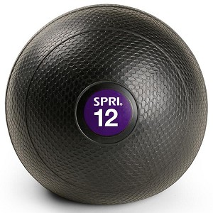 12 lb. Exercise Slam Ball w/ Sand for CrossFit (Professional Gym Quality) by SPRI