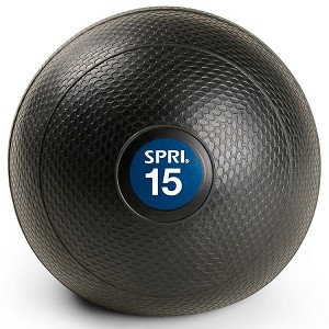 15 lb. Exercise Slam Ball w/ Sand for CrossFit (Professional Gym Quality) by SPRI