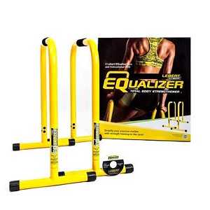 Yellow Equalizer Bars for Bodyweight Strength Training - Dips, Pull Ups, Push Ups (Professional Gym Quality) by Lebert