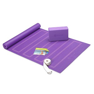 Yoga For Beginners Kit Purple by Gaiam