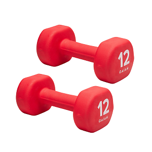 12 lb. Dumbbell Neoprene Hand Weight (Pair) by Gaiam