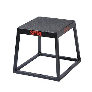"18"" Metal Plyo Jump Box (Professional Gym Quality) by SPRI"