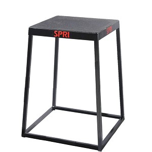 "24"" Metal Plyo Jump Box (Professional Gym Quality) by SPRI"