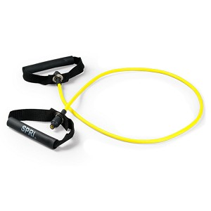 Original Xertube Trainer w/ Plastic Handle - Rubber Resistance Band - Very Light Resistance (Professional Gym Quality)