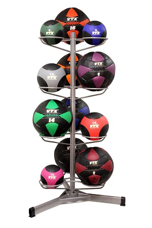 Medicine and Wall Ball Mix CrossFit Club Set w/ Rack (Professional Gym Quality) by VTX