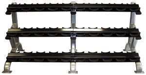 Three Tier 15 Pair Dumbbell Rack w/ Saddles (Commercial Gym Quality) by Troy Barbell