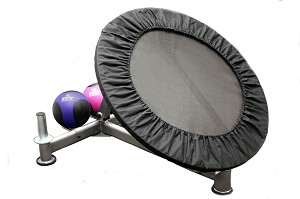 Rebounder Trainer 7-Position Angle Settings w/ Med Ball & Plate Storage Stations (Professional Gym Quality) by VTX