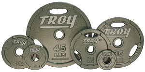 355 lb. Olympic Weight Plate Set, Iron Machined Grip (Commercial Gym Quality) by Troy Barbell