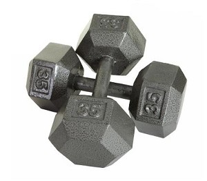 70 Lbs. Solid Hex Dumbbell - Pair (Home Gym Use) by USA Sports