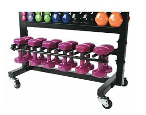 Aerobic Dumbbell Set Rack (Commercial Gym Quality) by Troy Barbell
