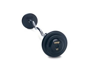 Fixed Curl Barbell Set, 20 - 110 Lbs. Pro-Style Rubber End Caps (Commercial Gym Quality) by Troy Barbell