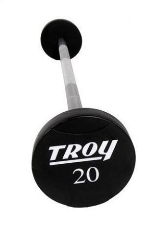 650 Lbs. Solid Urethane Straight Curl Barbell Set (Commercial Gym Quality) by Troy Barbell