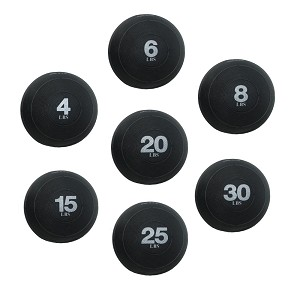 Exercise Slam Ball w/ Sand - CrossFit Club Set 4, 6, 8, 10, 15, 20, 25 lbs. (Professional Gym Quality) by AeroMat