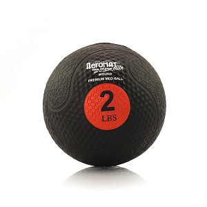 2 lb. Rubber Medicine Ball Weight - Red (Professional Gym Quality) by AeroMat