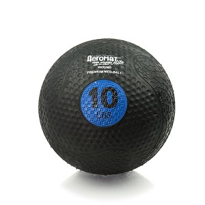 10 lb. Rubber Medicine Ball Weight - Blue (Professional Gym Quality) by AeroMat