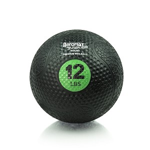 12 lb. Rubber Medicine Ball Weight - Green (Professional Gym Quality) by AeroMat