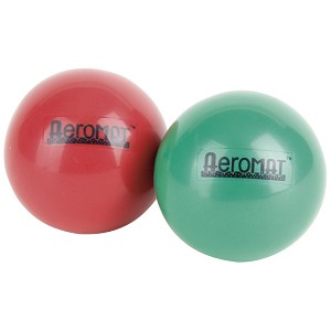 "Mini Weight Ball, Dual Package - 1 lb. - 3.6"" - Green (Professional Gym Quality) by AeroMat"
