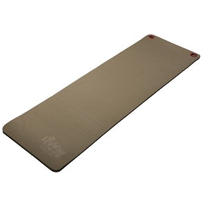 "Extra Thick Foam Exercise Mat, Hangable w/ Dual Surface, 1/2"" X 24"" X 72"" - Black/Olive (Professional Gym Quality) by AeroMat"