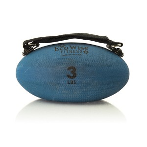 Slim Olive Weight Ball - 3 lb. (Blue Dahlia) (Professional Gym Quality) by AeroMat