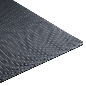 Heavy Duty Foam Gym Mat with Diamond Plate Texture (Professional Gym Quality) by CAP Barbell