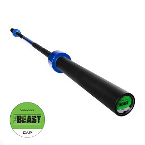 The Beast Olympic Barbell Weight, Blue Flame Bar (Professional Gym Quality) by CAP Barbell