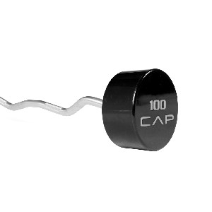 110 lb. Urethane EZ-Curl Barbell (Professional Gym Quality) by CAP Barbell