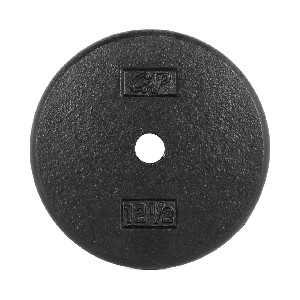 "12.5 lb. Standard 1"" Black Plate - Single (Home Gym Use) by CAP Barbell"
