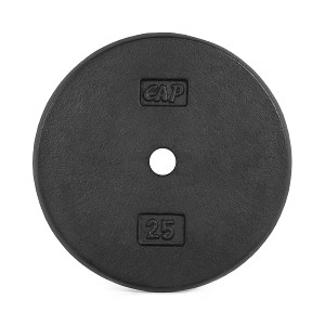 "25 lb. Standard 1"" Black Plate - Single (Home Gym Use) by CAP Barbell"