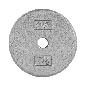 "7.5 lb. Standard 1"" Gray Plate - Single (Home Gym Use) by CAP Barbell"